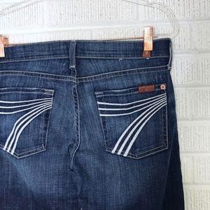 7FAMK Dojo Jeans Trouser Wide Leg Sz 29